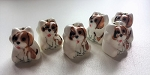 Ceramic Dog Totem Bead #040417